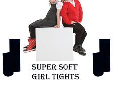 Girls Ladies Soft Winter Tights Sizes 3-12 in Blue Children School, Party Kids