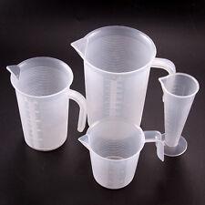 4 Größe Kunststoff Messbecher Cup Oberfläche Kochen Bäckerei Kitchen Lab