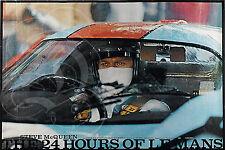 PLAQUE ALU REPRODUISANT UNE AFFICHE STEVE MC QUEEN PORSCHE 917 LE MANS 1971