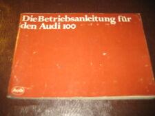 Betriebsanleitung Audi 100 Typ 43, Stand 1979