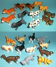 1 Set Hund o. Katze 12er Gummitiere Spieltiere Kätzchen Welpen Haustier Tiere NW