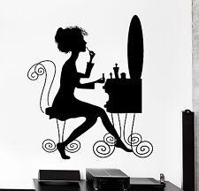 Wall Decal Beauty Salon Makeup Style Woman Dressing Table Vinyl Sticker (ig2609)