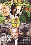 NEW DVD Bride of the Gorilla / The Invisible Avenger: Raymond Burr Richard Derr