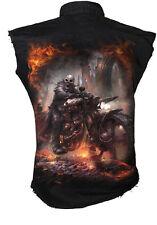 Spiral Direct Steam Punk Rider Camisa de trabajo, Motociclista/ Calavera/ Roca /