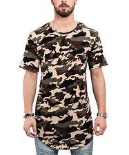 Phoenix Round Oversize T-Shirt Camo Woodland Camouflage Longshirt Long Men's