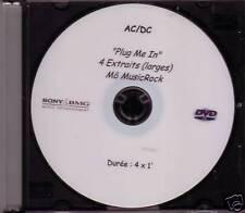 "AC/DC ""Plug me in"" 4 Track Promo  DVD Extreme RARE"