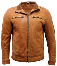 Hommes short rétro 100% tan nappa cuir perfecto