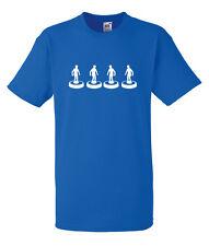 Subbuteo Chelsea Back Four Silhouette White Design Men's Blue T-Shirt
