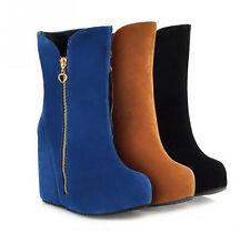 Botines botas de mujer cuña interior 10 cm caldi cómodo como piel 8983