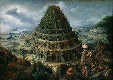 Marten van Valckenborch the Elder: la Torre de Babel. Art Print/cartel (004725)