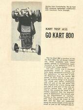 Vintage 1960/1 Go-Kart 800 Test Report