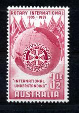 Australia 1955 50º Aniversario de Rotary International Sg 281 Bloque De 4 Mnh