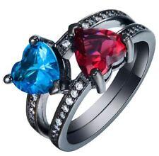 Ring Fingerring Blau & Rot Hetzform Jung Romantic Love Style (10)