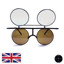 GloFX Vintage Flip Round Trippy Rainbow Diffraction Glasses - UK Stock