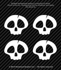Boneheadz® Skull 2 inch Set of 4 Vinyl Decal Window Sticker Punisher Cute Skull