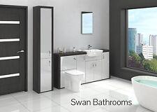 Hacienda/grigio chiaro lucido mobili bagno montato con unità di altezza 2200mm