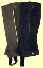 Clarino Suede Leather Half Chaps Brown or Black Adult S M L XL XXL XXXL