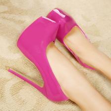Clubwears Womens Platform High Heels Multicolor Round Toe Stilettos Pump Plus SZ