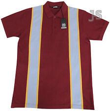 Clásico Relco Rayas Camisa Polo Piqué Años 60 Mod Retro Estilo 100% algodón