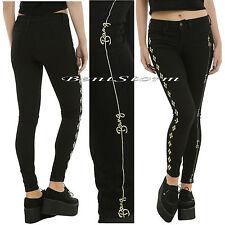 LE Suicide Squad Harley Quinn Black Skinny Jeans Bang Bang DC Comics JR 0 3 13