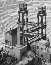 140819 M C Escher Optical Illusion Drawing Pop Wall Print Poster Affiche