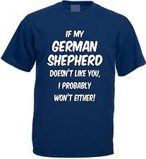 IF MY GERMAN SHEPHERD DOESN'T LIKE YOU T-SHIRT Funny Christmas Present Alsatian