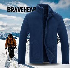 Winter Men Fleece Jacket New Thicken Coat Loose Plus Size Casual Outerwear Warm