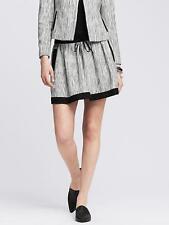 New Banana Republic Tiered Tweed Skirt Gray Size 10 $98