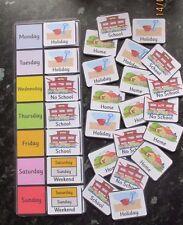 Calendarios para el hogar, la escuela, vacaciones y fines de semana 26 Tarjetas & Board ~ Sen Pec