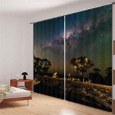 Marvellous Milky Way 3D Blockout Photo Curtain Print Curtain Drape Fabric Window