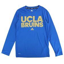 "UCLA Bruins NCAA Adidas Youth Blue ""Sideline Hustle"" Climalite LS T-Shirt"