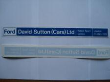 Escort RS David Sutton (Coches) Trasero Ventana Vendedor CalcomaníA