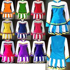 Damen Cheerleader-Cheerleading Kostüm/ Kleid Fasching/Cosplay Gr. XS, S, M, L