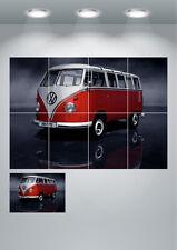 VW Camper Van Vintage Grande Stampa Wall Art Poster