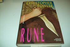 CHRISTOPHER FOWLER-RUNE-MYSTBOOKS-MONDADORI-PRIMA EDIZIONE 1993