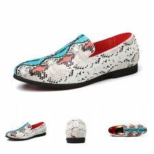 38-48 Mens Pointed Toe Snakeskin Pattern Slip On Business Formal Dress Shoes L