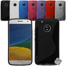 Housse etui coque silicone gel fine pour Motorola Moto G5 Plus + film ecran
