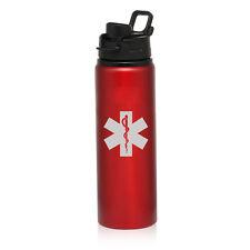 25oz Aluminum Sports Water Bottle Travel Star Of LIfe EMT
