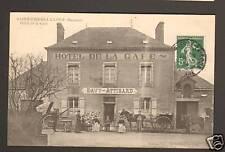 SAINT-PIERRE-LA-COUR (53) Attelage à HOTEL DE LA GARE