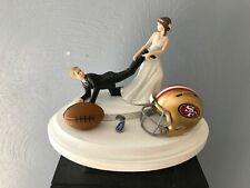 San Francisco 49ers Cake Topper Bride Groom Wedding Day Funny Football Theme