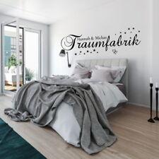 Wandtattoo AA225 Schlafzimmer Traumfabrik mit  Namen Spruch Sterne