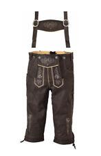 Nubuk Lederhose Trachten Lederhose bestickt mit Träger Neu Größe von 44-64