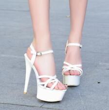 Sexy Women's Chic Buckle Peep Toe Shoes Platform Stiletto High Heels Sandals