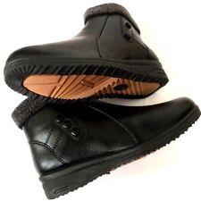 NUOVO Donna ORTOPEDICO diabetici PELLICCIA CERNIERA ZEPPA INVERNO isolare Boot numero di scarpe