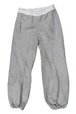 Pantalone lungo di tuta da bambina grigio Adidas casual moda palestra cotone