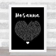 Hosanna Black Heart Song Lyric Print