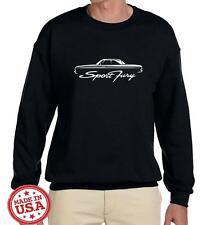 1964 Plymouth Sport Fury Hardtop Classic Car Outline Design Sweatshirt NEW
