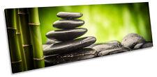 Zen Stones Bamboo Panorama CANVAS WALL ART Framed Print