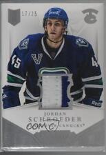 2013 Panini Dominion Authentic Material Prime #D-OE Jordan Schroeder Hockey Card