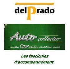 DelPrado AutoCollector - Fascicules d'accompagnement (au choix)